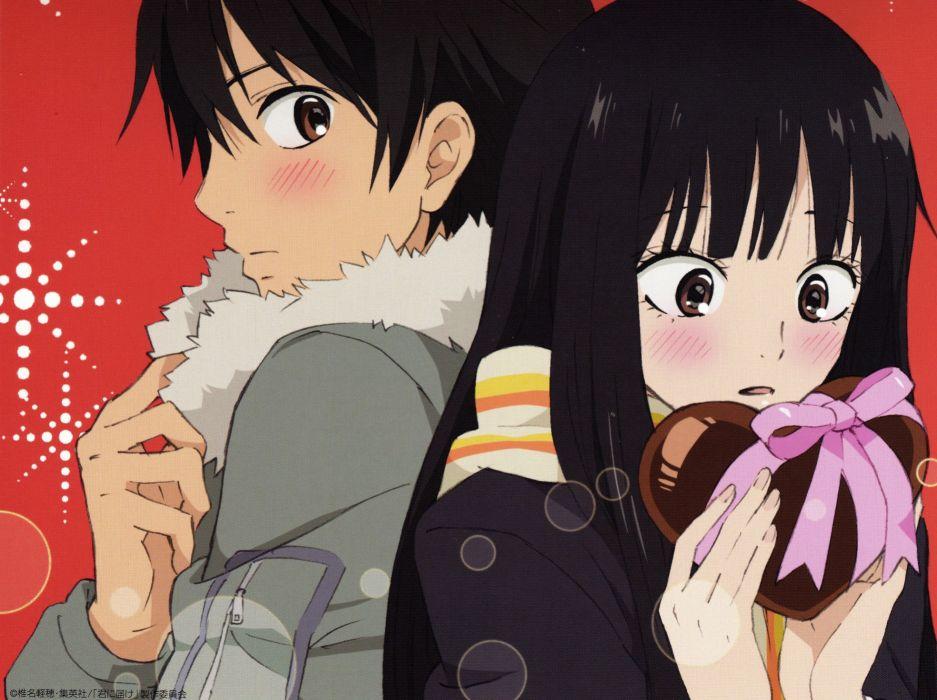 anime couple group cute girl boy Kimi ni Todoke Series Sawako Kuronuma Character Shouta Kazehaya wallpaper