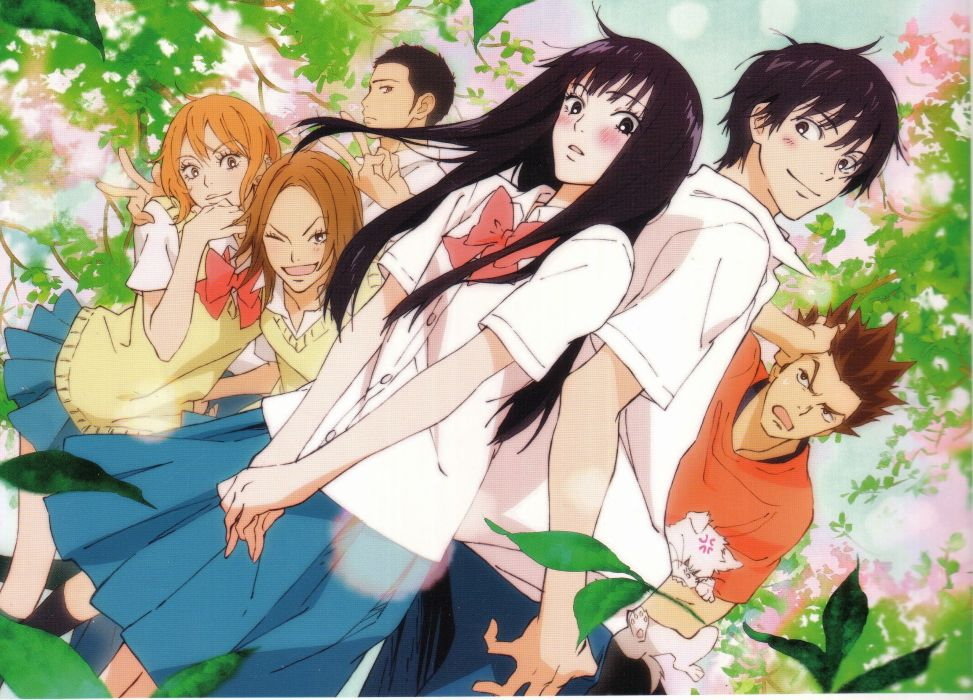anime couple group cute girl boy Kimi ni Todoke Series Kazuichi Arai Character Shouta Kazehaya wallpaper