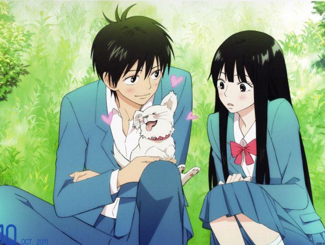 anime couple group cute girl boy cute dog Kimi ni Todoke Series Sawako Kuronuma Character Shouta Kazehaya wallpaper
