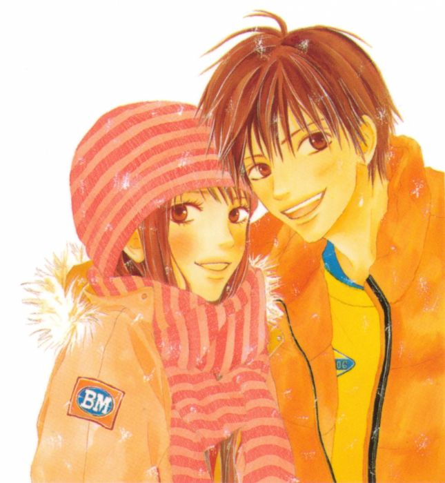 anime couple group cute girl boy manga Kimi ni Todoke Series Shouta Kazehaya Character Sawako Kuronuma wallpaper