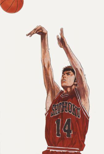 anime sports basketball guy Slam Dunk Series Hisashi Mitsui Character wallpaper