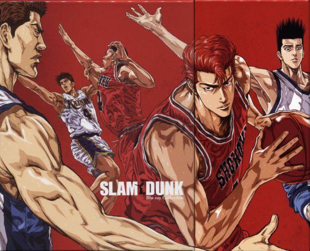 anime sports basketball group guys Slam Dunk Series Akira Sendo Character Takenori Akagi wallpaper