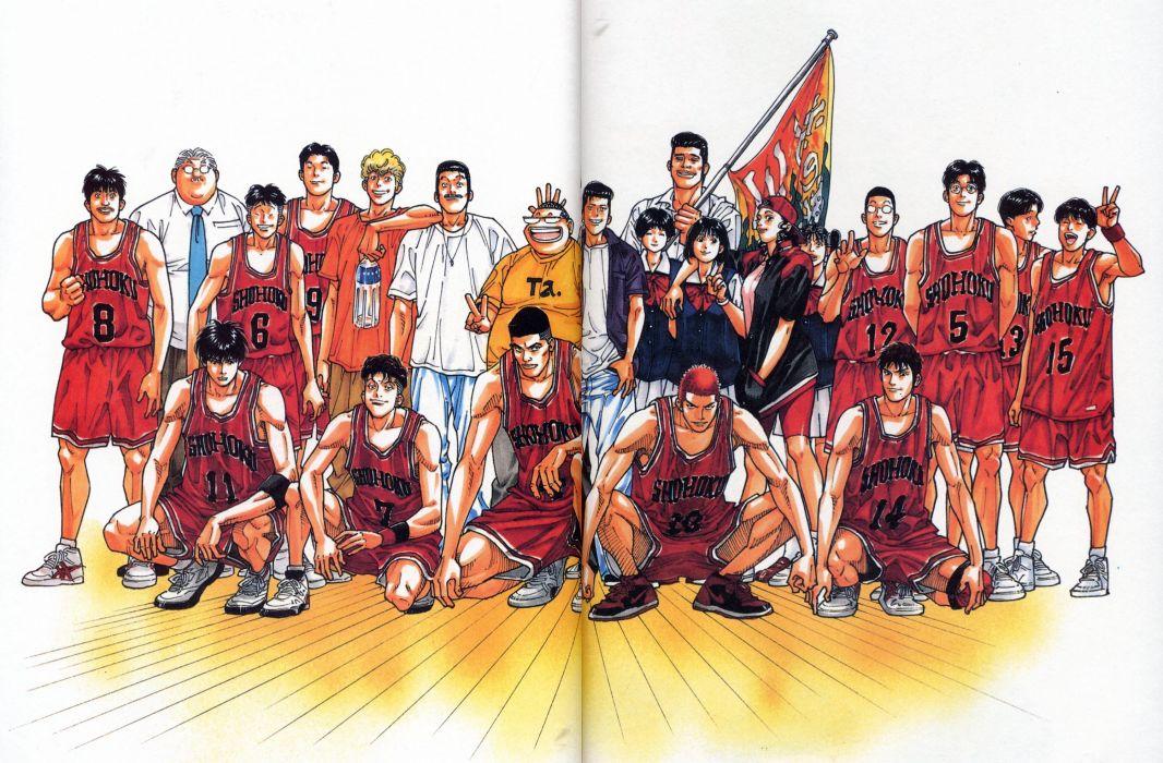 anime sports basketball group guys Slam Dunk Series wallpaper