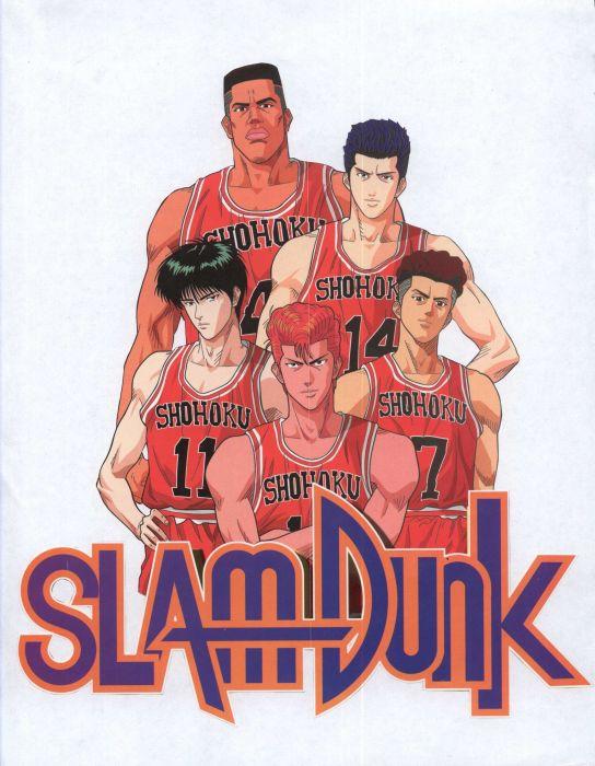 anime sports basketball group guys Slam Dunk Series Ryota Miyagi Character Kaede Rukawa Character Hanamichi Sakuragi wallpaper