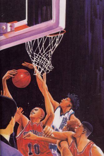 anime sports basketball group guys Slam Dunk Series Hanamichi Sakuragi Character Kicchou Fukuda wallpaper