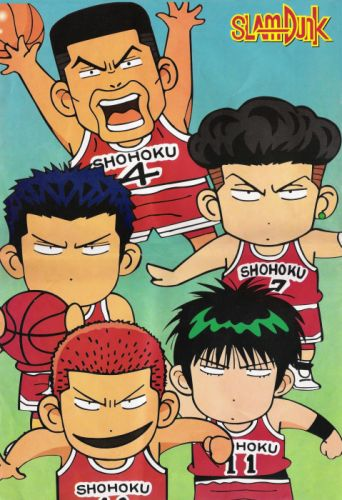 anime sports basketball group guys Slam Dunk Series Ryota Miyagi Character Kaede Rukawa Character Hanamichi Sakuragi wallpaper