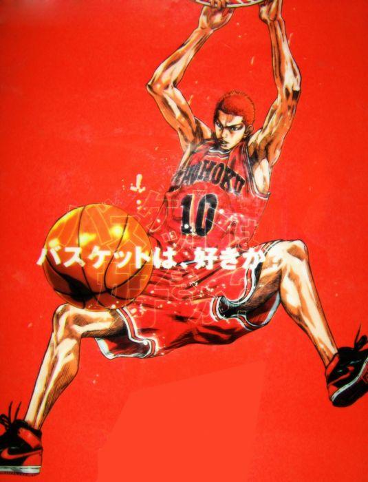 anime sports basketball Slam Dunk Series Hanamichi Sakuragi Character wallpaper