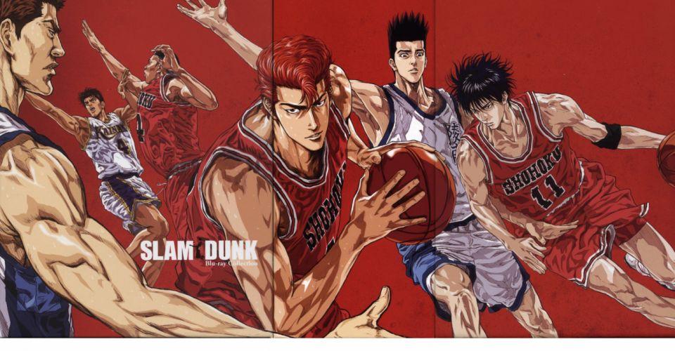 anime series sports basketball guys slumdunk characters wallpaper