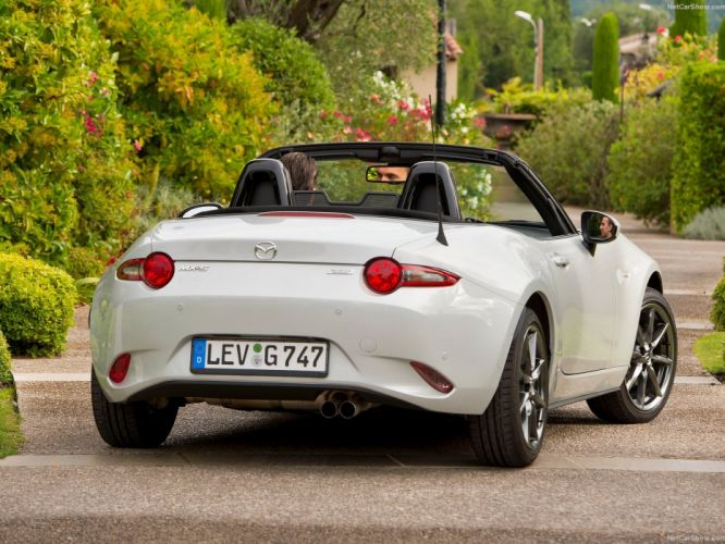 2016 cars roadster convertible Mazda miata MX-5 white wallpaper