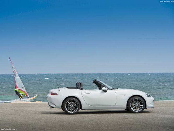 2016 cars roadster convertible Mazda miata MX-5 white wallpaper
