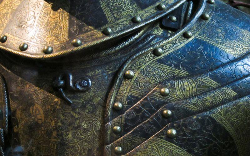 armor warrior people weapon suit vintage steel metal wallpaper