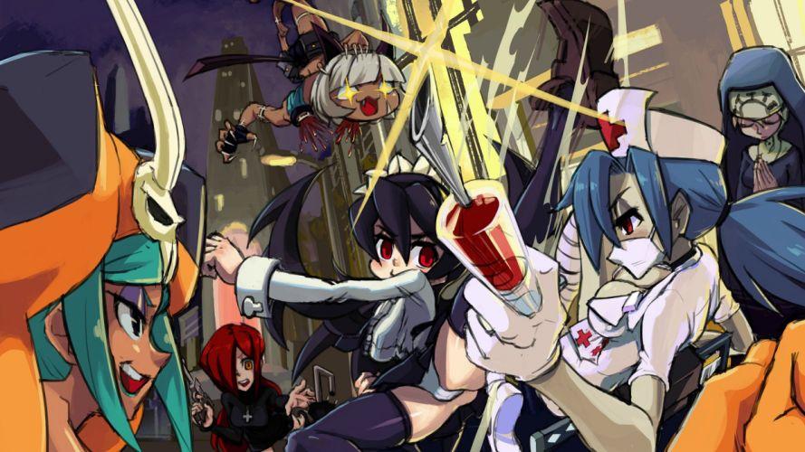 SKULLGIRLS action fighting chibi girl girls skull warrior anime mahga 1sgirls disney wallpaper