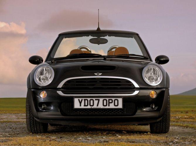Mini Cooper-S Cabrio convertible Sidewalk UK-spec cars 2007 wallpaper