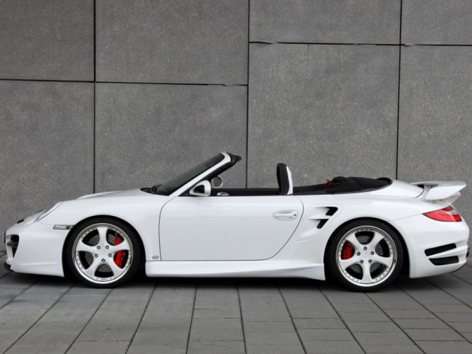 TechArt Porsche 911 Turbo cabriolet convertible Aerodynamic Kit-II 2010 cars modified wallpaper