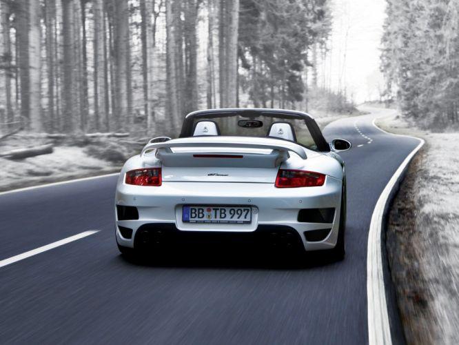 TechArt Porsche 911 Turbo GT-Street cabriolet cars modified 2007 wallpaper