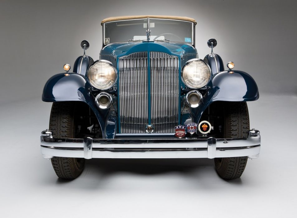 1932 Packard Twin Six Individual Custom Convertible Sedan Dietrich classic cars wallpaper