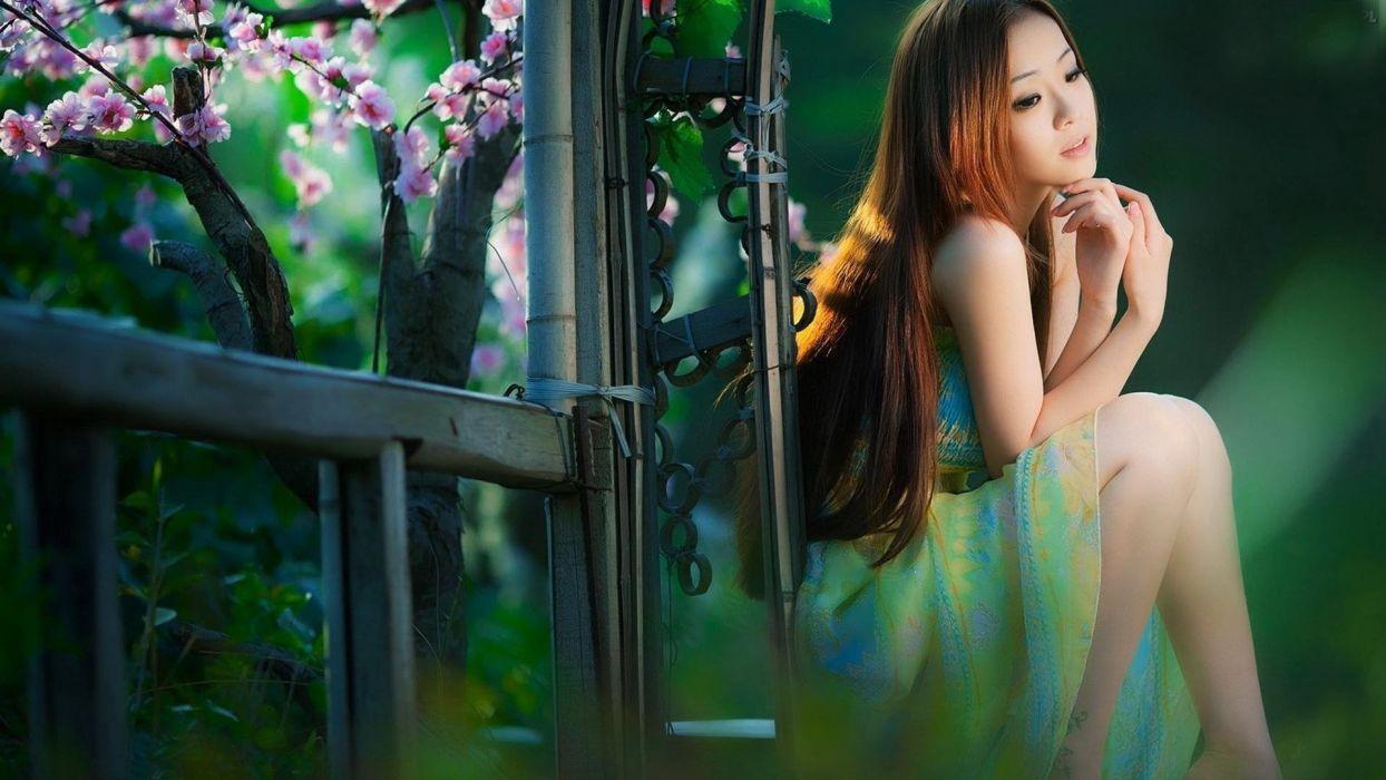 asians - brunettes - model - oriantal - women wallpaper
