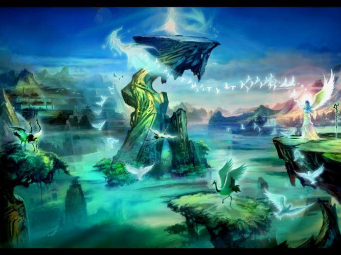 WORLD Of LEGEND fantasy mmo rpg action fightingartwork warrior 1woleg adventure martial arts samurai perfect wallpaper