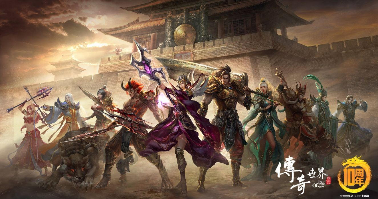 WORLD Of LEGEND fantasy mmo rpg action fightingartwork warrior 1woleg adventure martial arts samurai perfect poster wallpaper