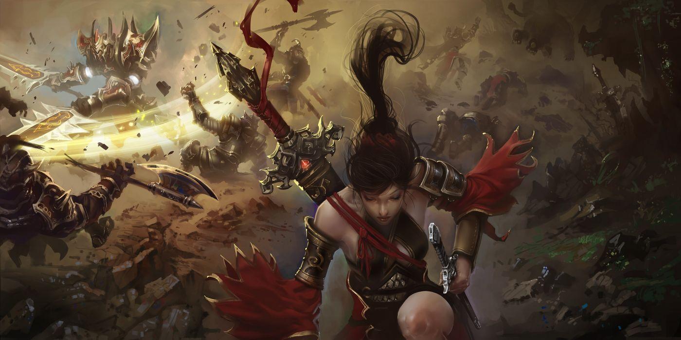 WORLD Of LEGEND fantasy mmo rpg action fightingartwork warrior 1woleg adventure martial arts samurai perfect poster wallpaper