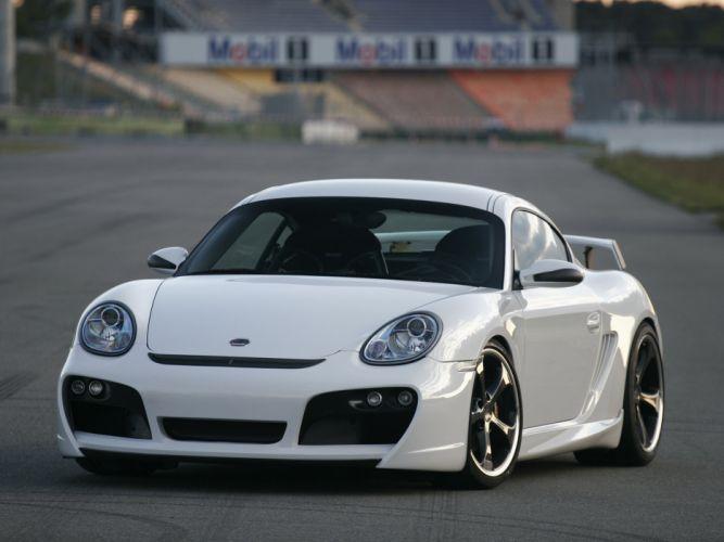 TechArt Porsche Cayman-GT Sport coupe cars modified wallpaper