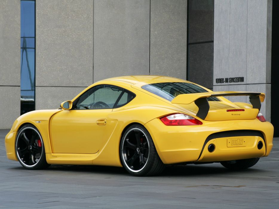 TechArt Porsche Cayman-s Widebody coupe cars modified wallpaper
