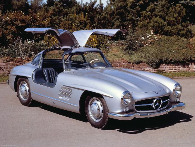 Mercedes-Benz 300-SL Gullwing classic cars 1954 wallpaper