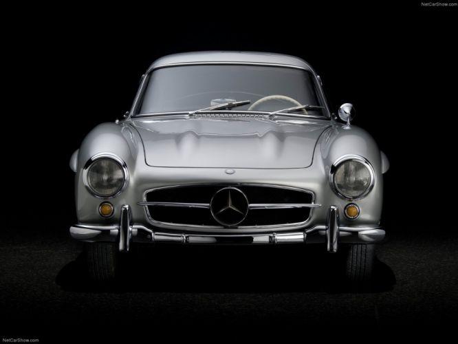 Mercedes-Benz 300-SL Gullwing classic cars 1954 wallpaper