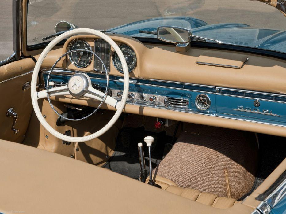 Mercedes-Benz 300-SL convertible classic cars 1957 wallpaper