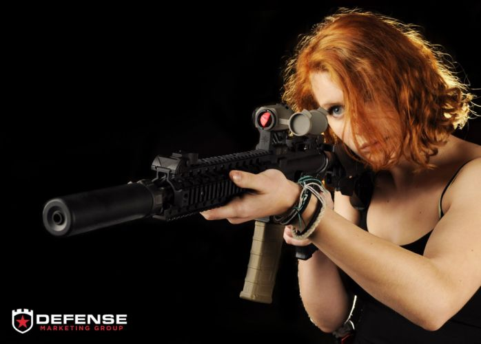girls guns weapon gun sexy babe fetish girl girls women woman female warrior shooter action rifle assault wallpaper
