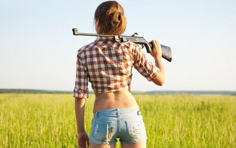 girls guns weapon gun sexy babe fetish girl girls women woman female warrior shooter action rifle wallpaper