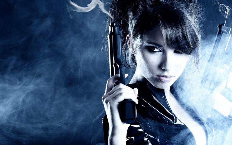 girls guns weapon gun sexy babe fetish girl girls women woman female warrior shooter action pistol handgun wallpaper