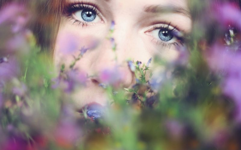 eye eyes face model models women female girl girls bokeh mood wallpaper
