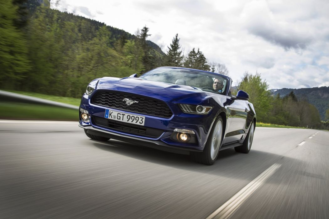 Ford Mustang EcoBoost Convertible EU-spec cars 2015 wallpaper