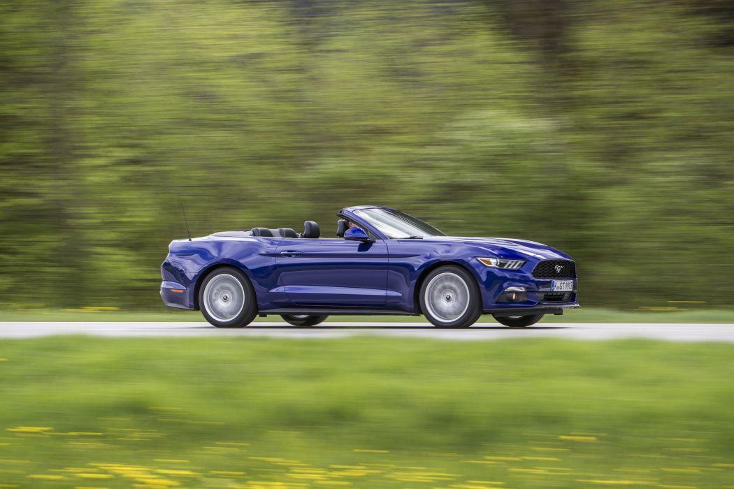 Ford Mustang EcoBoost Convertible EU-spec cars 2015 wallpaper