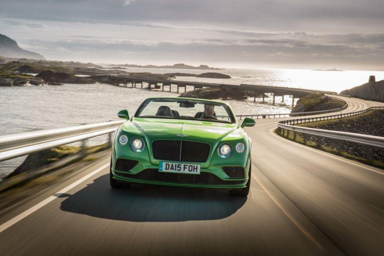 Bentley Continental-GT Speed convertible cars 2015 wallpaper