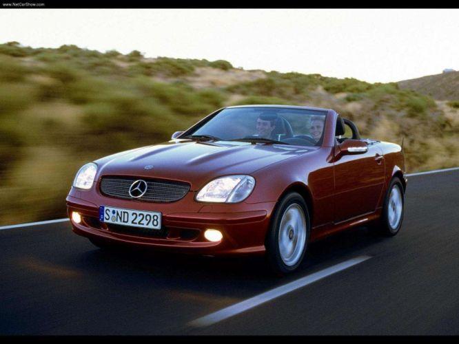 Mercedes-Benz SLK-320 roadster cars 2000 Kompressor wallpaper