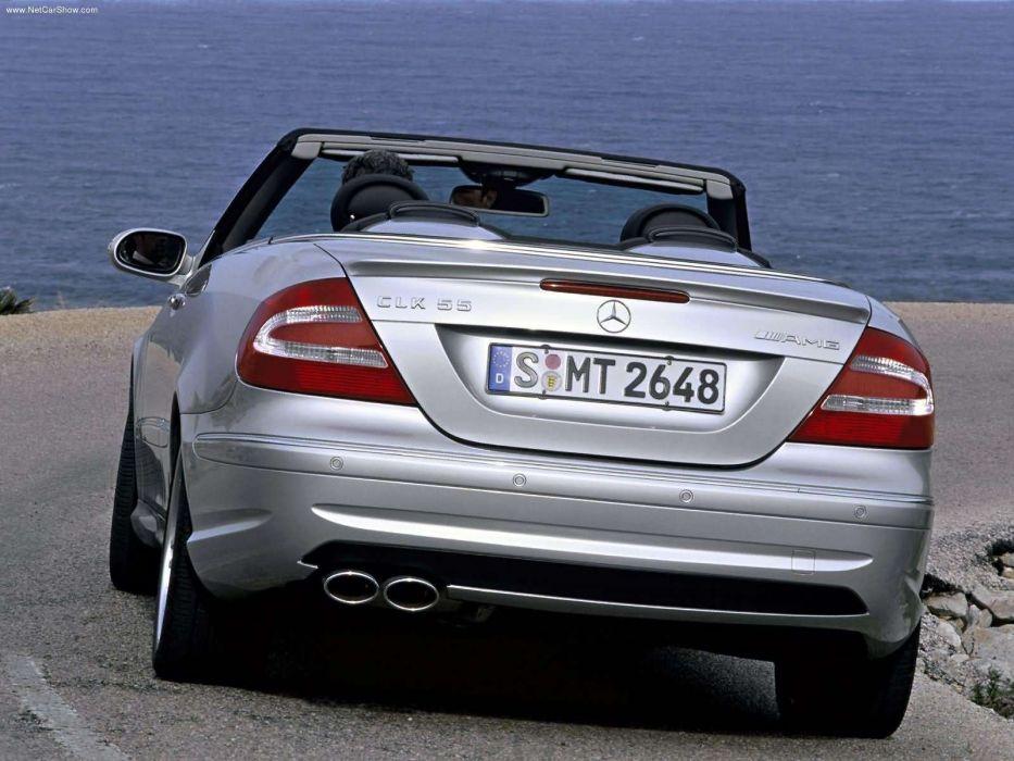 Mercedes-Benz CLK-55 Cabriolet AMG cars 2003 wallpaper