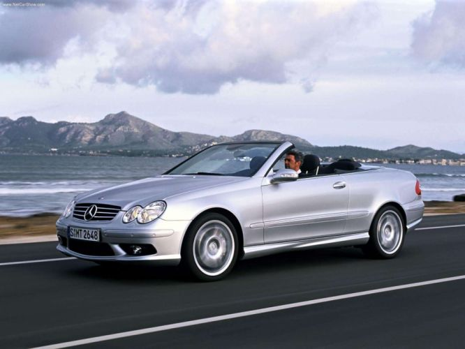 Mercedes-Benz CLK-55 Cabriolet AMG cars 2003 wallpaper