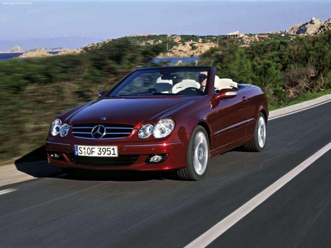 Mercedes-Benz CLK-320 CDI Cabriolet Avantgarde cars 2004 wallpaper