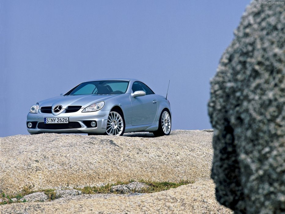 Mercedes-Benz SLK-55 AMG cabriolet cars 2005 wallpaper