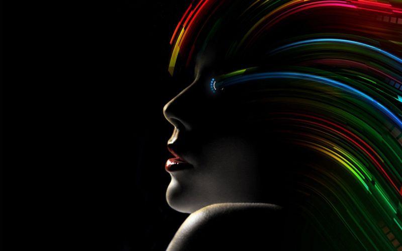 Faces lips color wallpaper