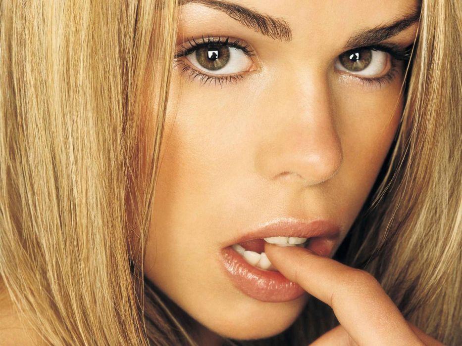 Faces mouth eyes finger teeth women girls blonde wallpaper