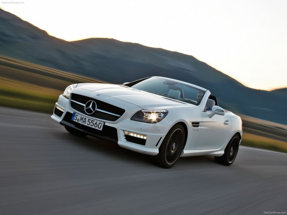Mercedes-Benz SLK-55 AMG cabriolet cars 2012 wallpaper