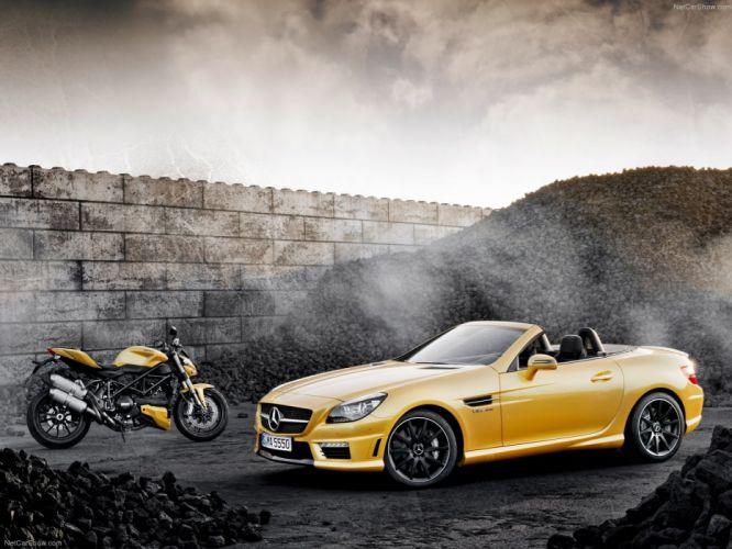 Mercedes-Benz SLK-55 AMG cabriolet cars 2012 wallpaper