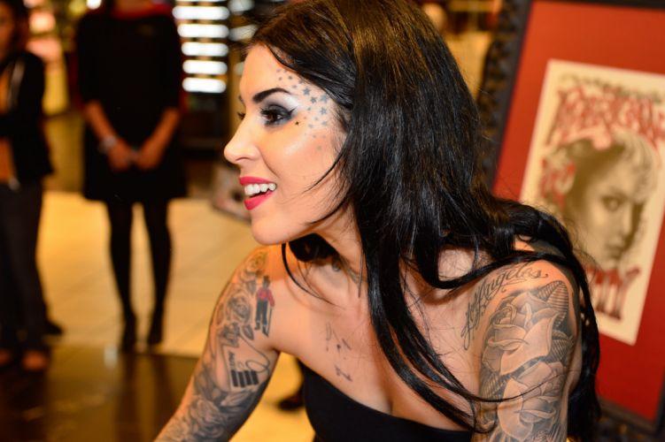 KAT VON D tattoo tattoos art artwork girl girls women woman female sexy babe fetish adult kat von wallpaper
