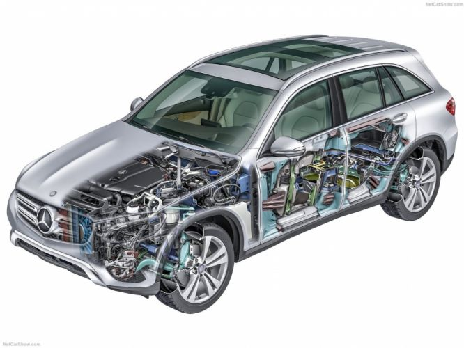 Mercedes-Benz GLC suv cars 2016 cutaway wallpaper