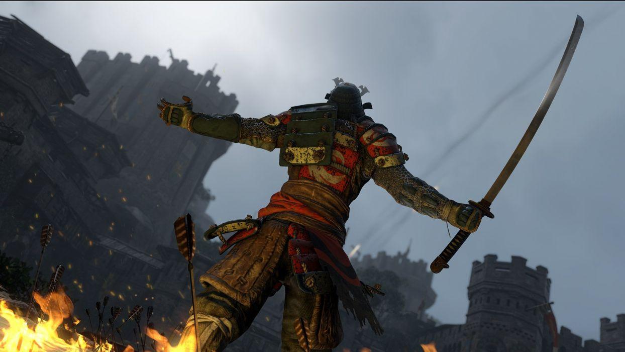 FOR HONOR ubisoft fantasy action fighting battle 1fhonor warrior artwork viking knight samurai medieval wallpaper