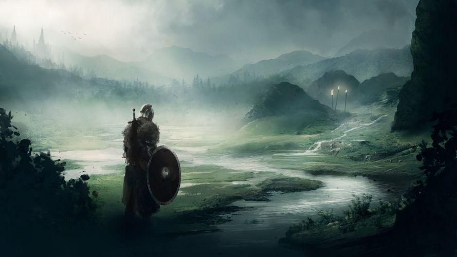 DARK SOULS fantasy action fighting warrior battle technical artwork 1dsouls exploration stealth wallpaper