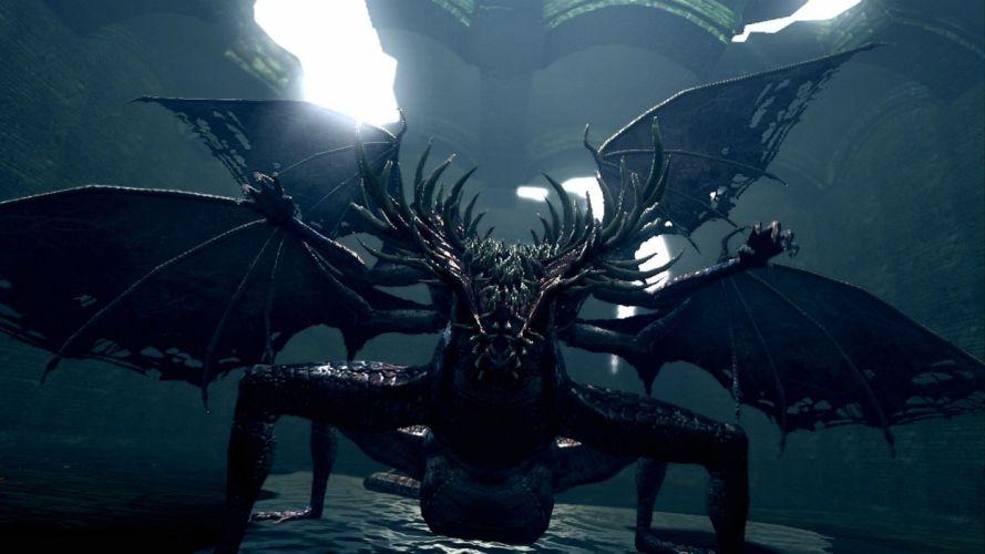 DARK SOULS fantasy action fighting warrior battle technical artwork 1dsouls exploration stealth poster monster creature wallpaper